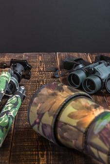 Ausrüstung für die beobachtung und fotografie