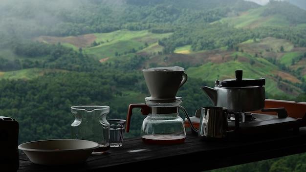 Ausrüstung für die zubereitung von filterkaffee