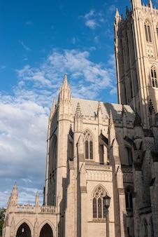 Außenansicht der nationalen kathedrale, washington dc