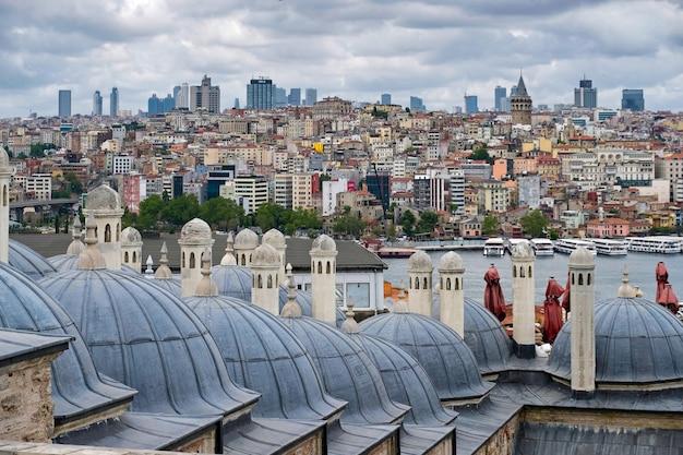 Außenansicht der süleymaniye-moschee in istanbul türkei