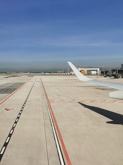 Außenansicht des flughafens malaga in spanien