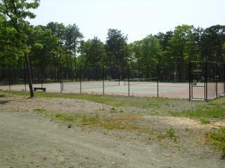 Außerhalb tennisplatz