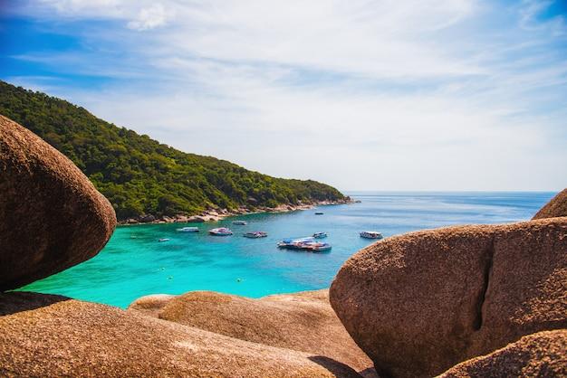 Aussichtspunkt von similan island, phuket thailand.