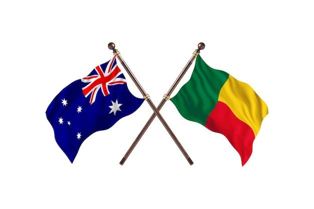 Australien gegen benin flaggen hintergrund