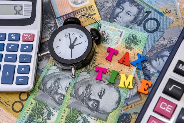 Australische dollar mit uhr und