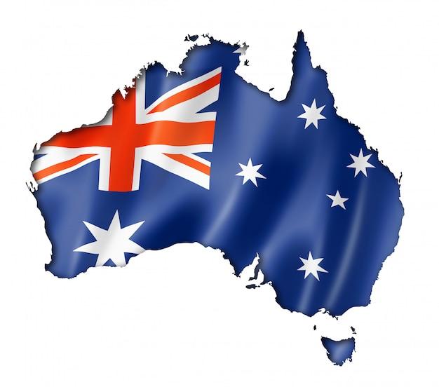 Australische flagge karte