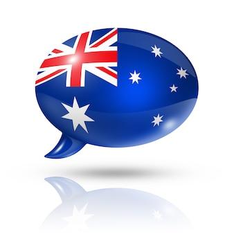 Australische flagge sprechblase