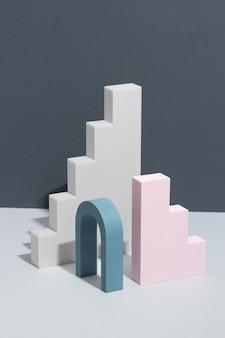 Auswahl an abstrakten 3d-designelementen