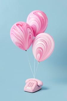 Auswahl an abstrakten festlichen ballons