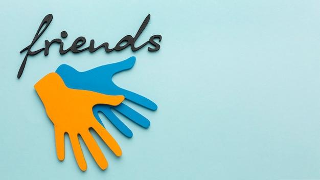 Auswahl an elementen des stillleben-freundschaftstages
