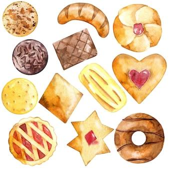 Auswahl an gebackenem gebäck.