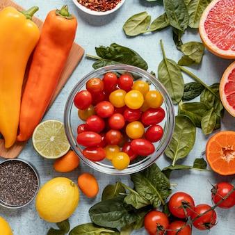 Auswahl an gesunden lebensmitteln zur stärkung der immunität