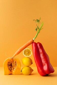 Auswahl an gesunden vegetarischen lebensmitteln