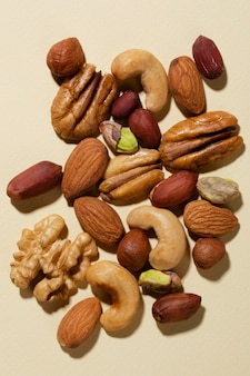 Auswahl an leckeren gesunden snacks