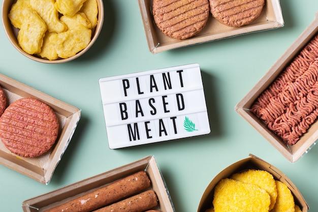 Auswahl an pflanzlichen fleischnahrungsmitteln zur reduzierung des co2-fußabdrucks