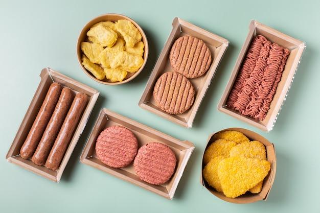 Auswahl an pflanzlichen fleischprodukten zur reduzierung des co2-fußabdrucks