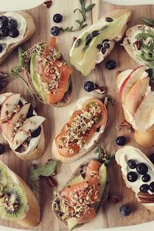 Auswahl an sandwiches