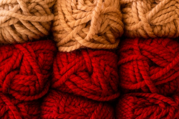 Auswahl der bunten garnwolle