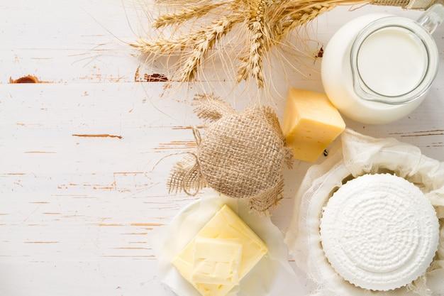 Auswahl von milchprodukten