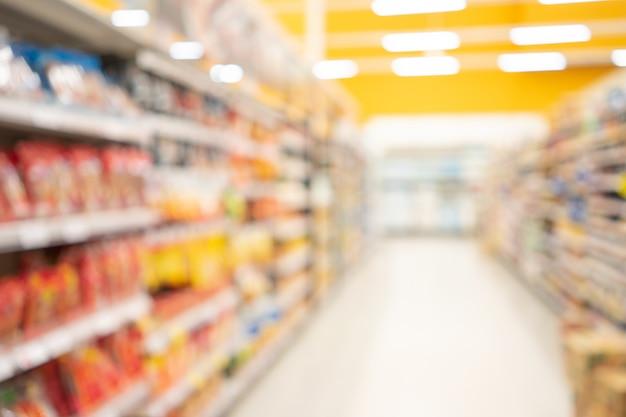 Auszug unscharfer supermarkt