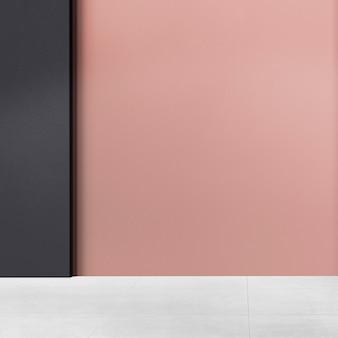 Authentische innenarchitektur des rosa leeren raumes