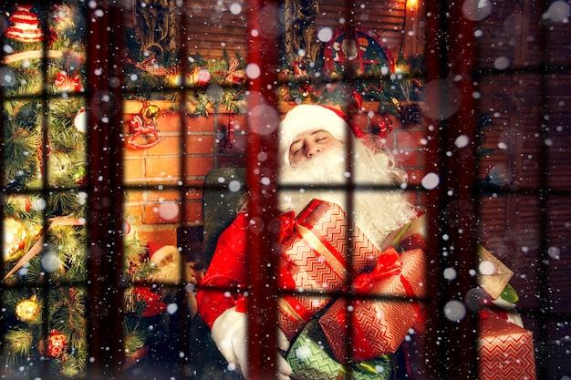 Authentischer weihnachtsmann
