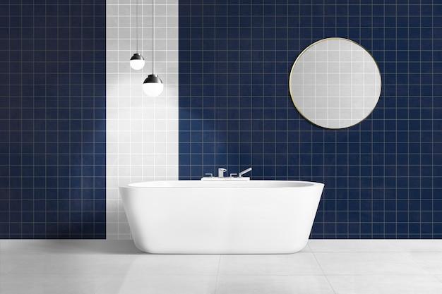Authentisches innendesign des luxuriösen badezimmers