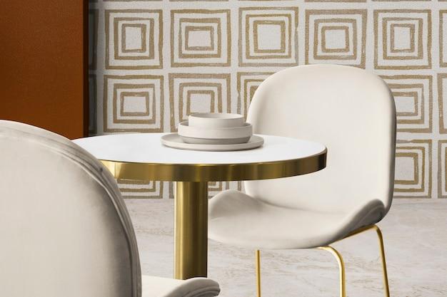 Authentisches innendesign des luxus-esszimmers