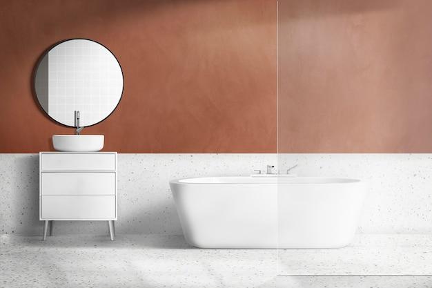 Authentisches innendesign im retro-badezimmer