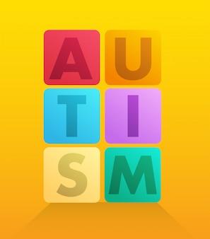 Autismus formuliert in blockvektor