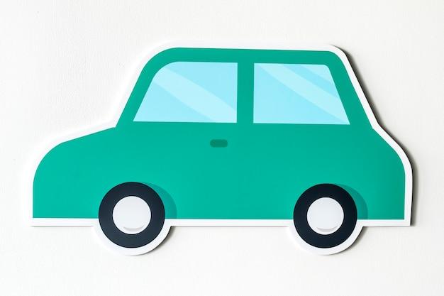 Auto für die transportikone lokalisiert