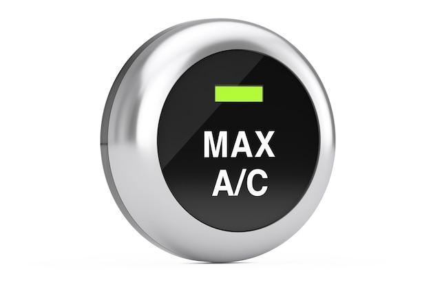 Auto-klimaanlage-knopf auf weißem hintergrund. 3d-rendering