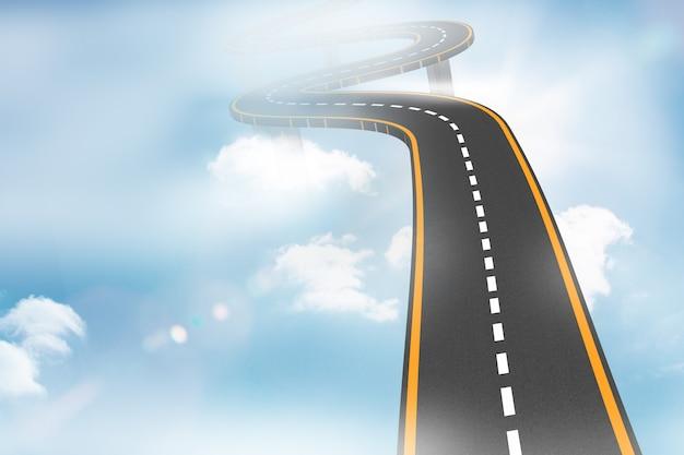 Autobahn in den himmel