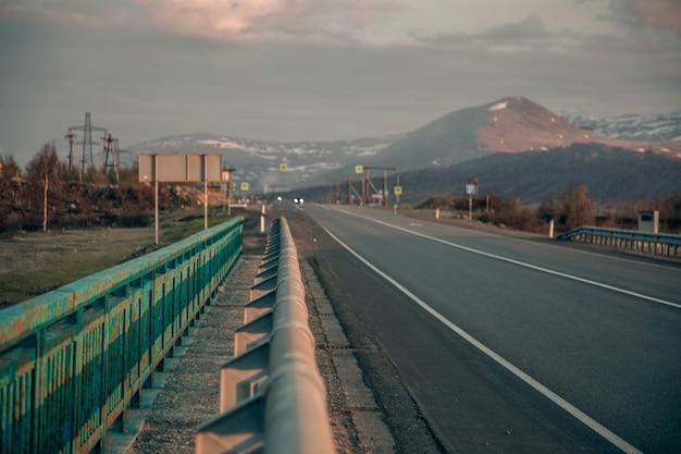 Autobahn jenseits des polarkreises