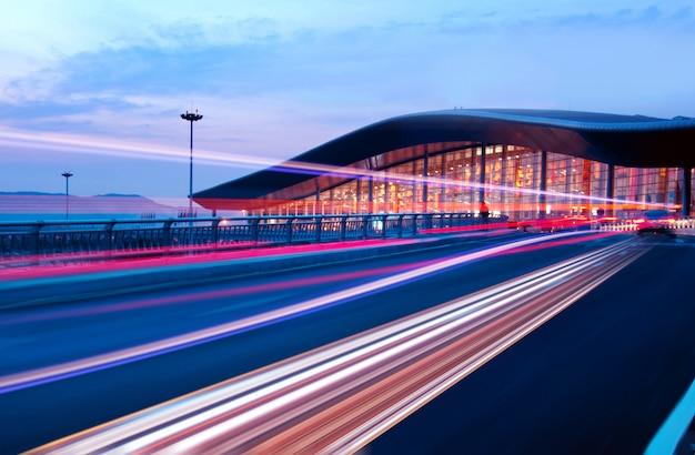 Autobahn lichtspuren