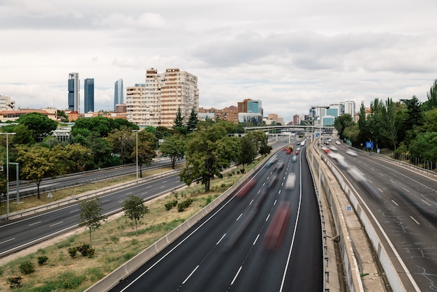 Autobahn m30 in madrid
