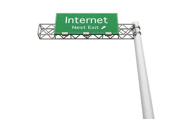 Autobahnschild - internet