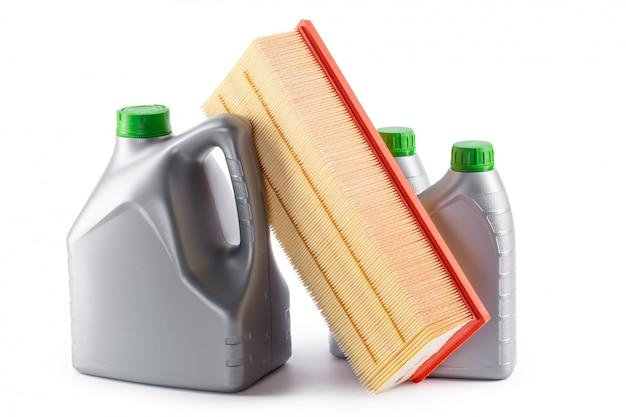 Autofilter und motoröl können