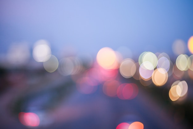 Autolichter verwischten kreis, abstrack, bokeh