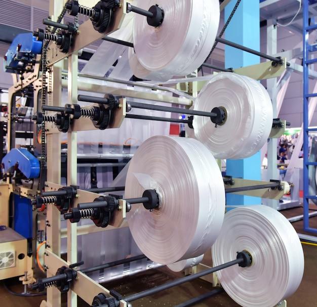 Automatisierte produktionslinie plastiktüte industriell in ausstellungsmaschinen