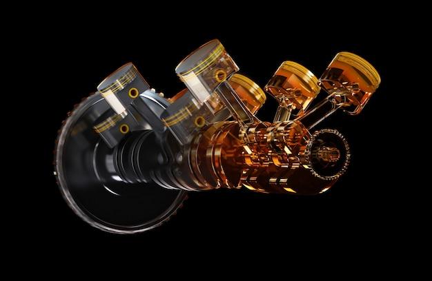 Automotor mit ölschmiermittel