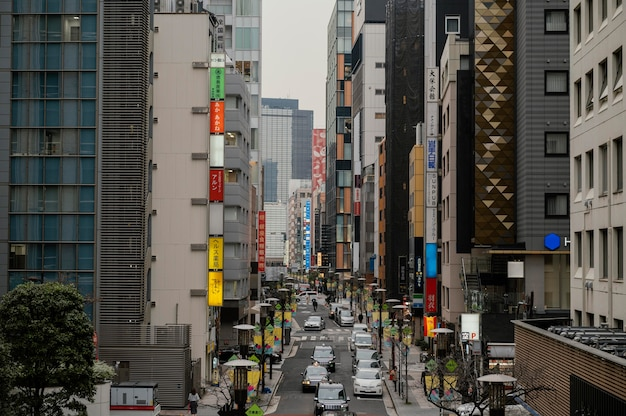 Autos fahren auf japan street