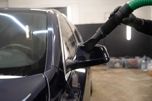 Autotrocknungsprozess nach dem waschen.