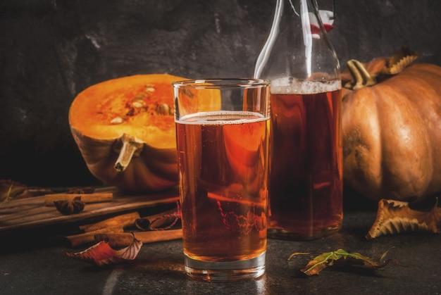 Autumn superfoods gesunde ernährung vegan pumpkin pie kombucha mit zutaten