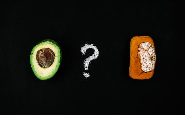 Avocado gegen gebäck