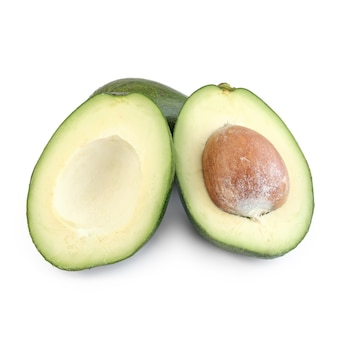 Avocado halbiert getrennt