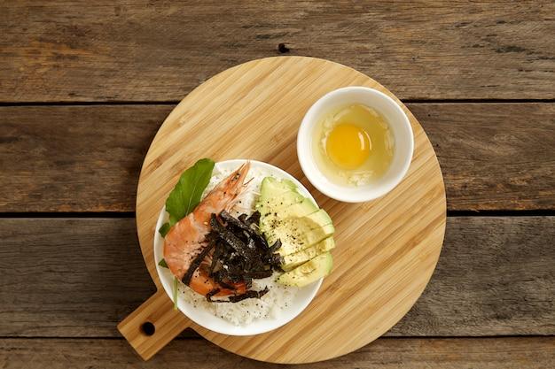 Avocado hawaii food poke bowl-küche