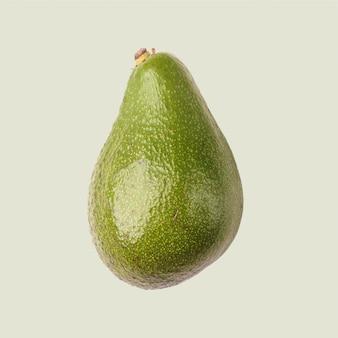 Avocado, tropische frucht auf einem farbigen hintergrund.