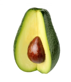 Avocados getrennt auf weißem hintergrund