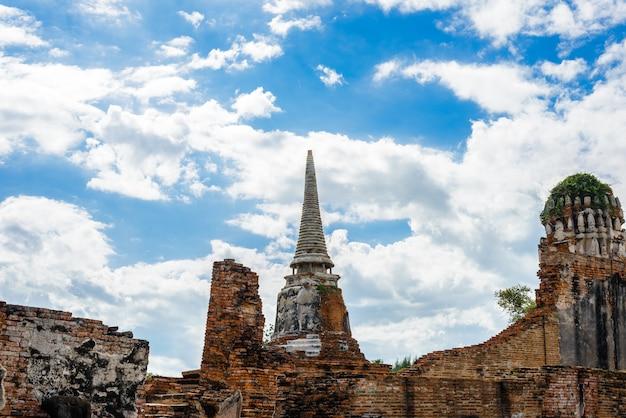 Ayutthaya tempelruinen, wat maha that